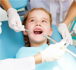 Child's First Visit to Dentist, Afraid